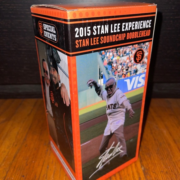SF Giants 2015 Stan Lee Bobblehead Soundchip VIP